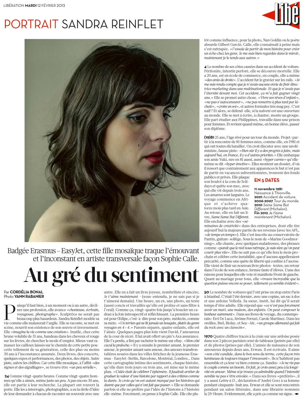 Portrait Libération, février 2013