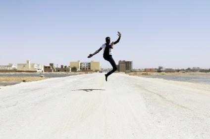 Pape fall, danseur, Mauritanie