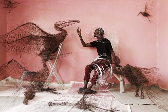 Oumar Ball, sculpteur, Mauritanie