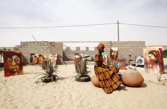 Amy Sow, peintre, Mauritanie