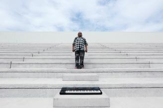 Buruka Tao, pianiste, Papouasie Nouvelle Guinée